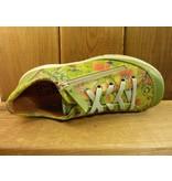 Double You Schuhe by Dessy Schuhe Sneaker Sportschuhe grün Blumen vegetabil pflanzlich gegerbtes Futter aus Leder Wechselfussbett