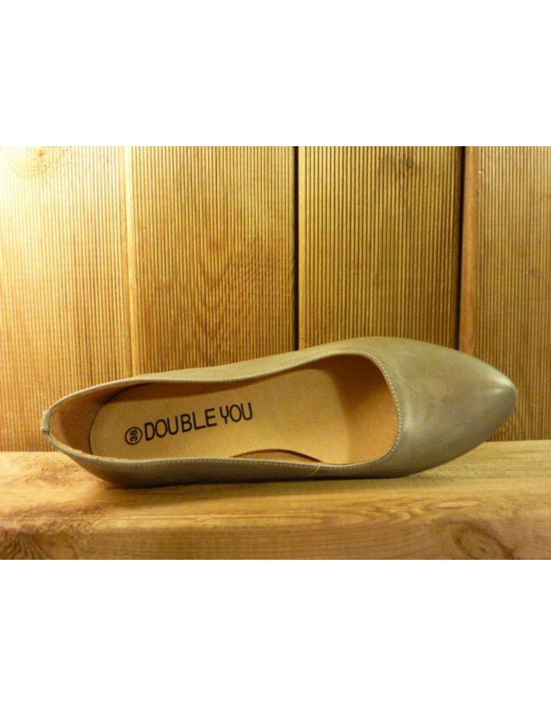 Double You Schuhe by Dessy graue Damen Pumps pflanzlich gegerbtem Lederfutter mit Trichterabsatz