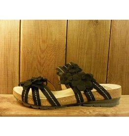 Josef Seibel Schuhe Sandalen aus Leder mit Blumenaccesoires