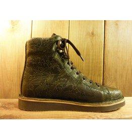 Grünbein Schuhe Boots Louis grün mit Ranken