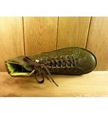 Grünbein Schuhe Boots Louis grün mit Ranken zum Schnüren. Kautschuksohle und hochwertiges Leder