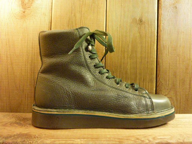 Grünbein Schuhe Boots Louis grün zum Schnüren. Kautschuksohle und hochwertiges Leder