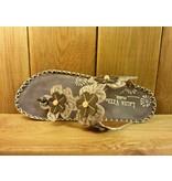 Laura Vita Sandale valet graue Sandalette aus Leder mit verstellbarer Fussweite und Absatz