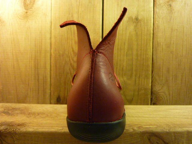 Loints of Holland Stiefeletten Schnürschuhe rot und extra dickes und weiches Leder mit Wechselfussbett Größe 39