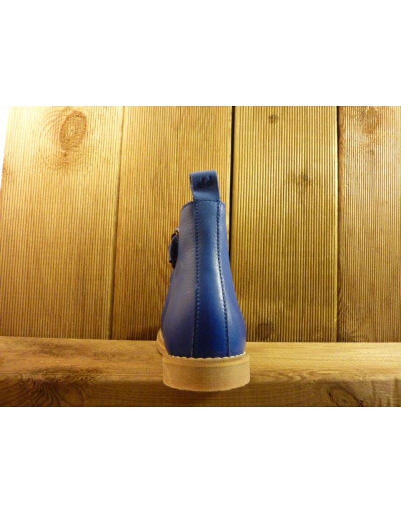 Froddo Kinderschuhe Froddo Stiefeletten Kinder blau mit bunten Gummizug, Reißverschluss und Gummisohle
