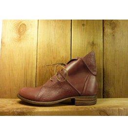Double You Schuhe by Dessy Stiefeletten in beere aus weichem Leder in Prägeoptik