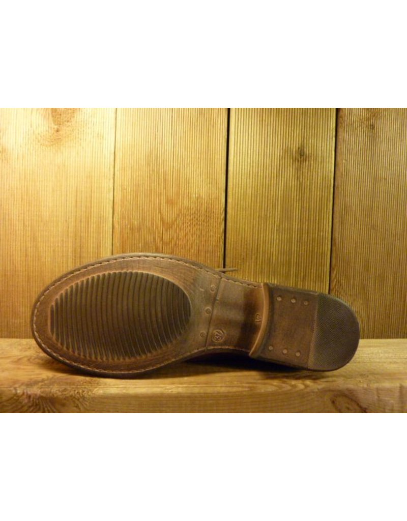 Double You Schuhe by Dessy Stiefeletten in beere aus weichem Leder in Prägeoptik mit Schnürung und Gummisohle
