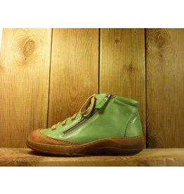 Double You Schuhe by Dessy Halbhohe Schuhe zum Schnüren in Grün mit Wechselfußbett und Reißverschluss