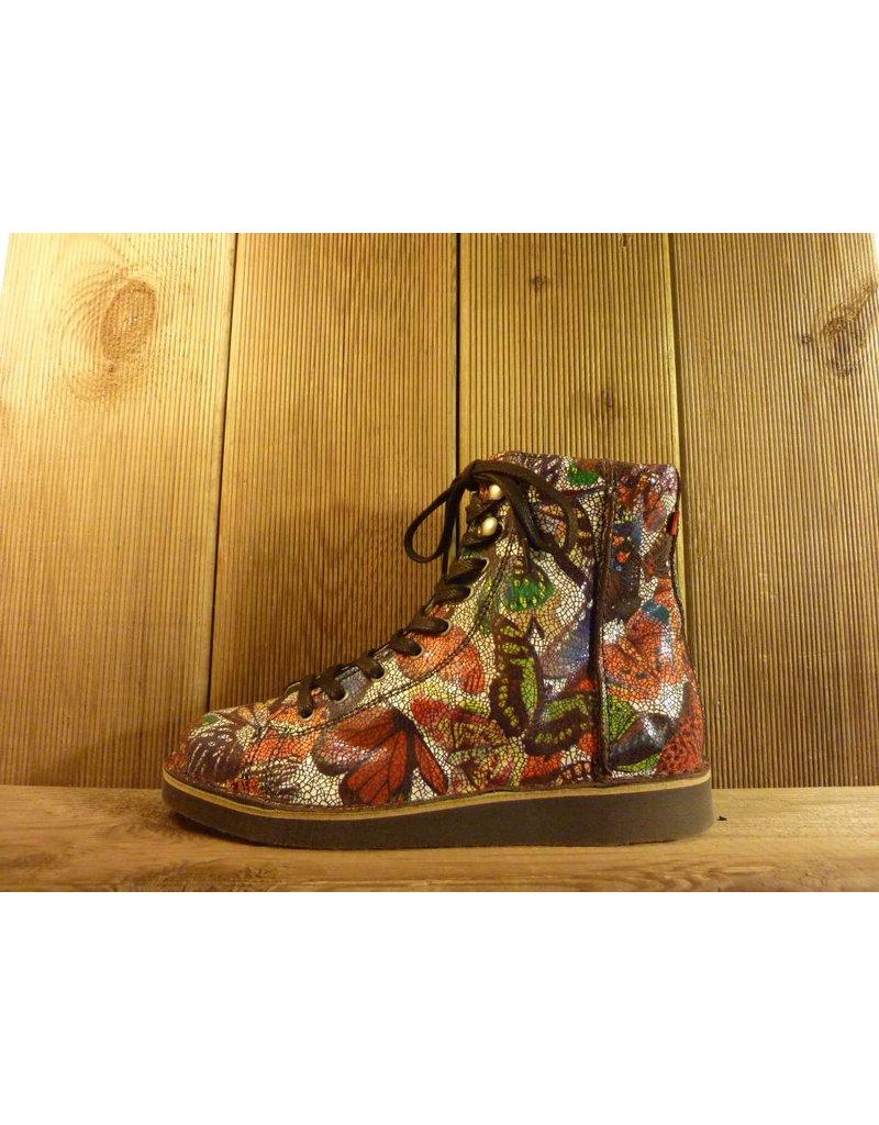 Grünbein Schuhe Boots Louis Butterfly mit Schmetterlingmuster Schnürschuhe auch für Einlagen zwiegenähter Lederschuhe