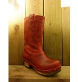 Grünbein Schuhe Clogstiefel Andrea Rot mit robuster Echtholzsohle und sehr weichem Leder Auch geeignet für Einlagen