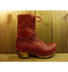 Grünbein Schuhe Clogboots Karola Rot mit robuster Holzsohle auch für Einlagen