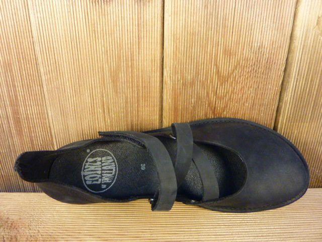 Loints of Holland Ballerina Klettverschluss schwarz mit Wechselfußbett Damen