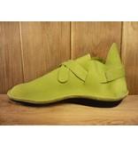 Loints of Holland Halbschuhe zum Knöpfen in grün extra weiches Leder
