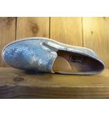 Double You Schuhe by Dessy Silberne Slipper aus Leder mit herausnehmbarer Innensohle.