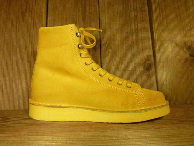 Grünbein Schuhe Boots Louis Gelb aus Verloursleder