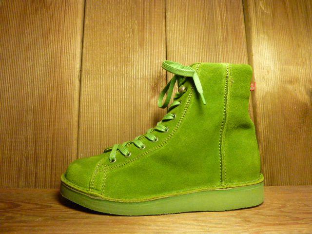 Grünbein Schuhe Boots Louis Grün aus Verloursleder