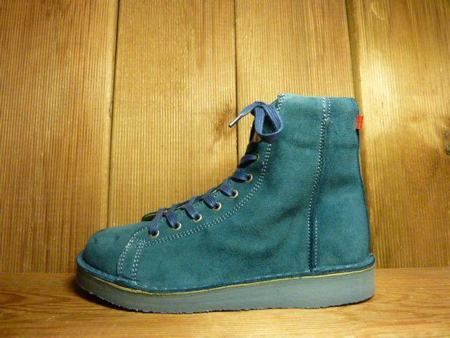 Grünbein Schuhe Boots Louis Blau aus Verloursleder