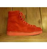 Grünbein Schuhe Boots Louis Rot aus Verloursleder