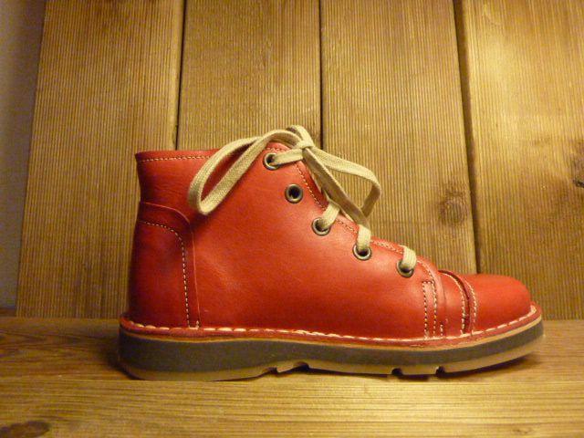 Billy Rock Schuhe Boots BOB  in rot auch für Einlagen zwiegenähter Lederschuh