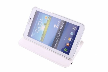 Samsung Galaxy Tab 3 7.0 hoesje - Witte 360° draaibare tablethoes