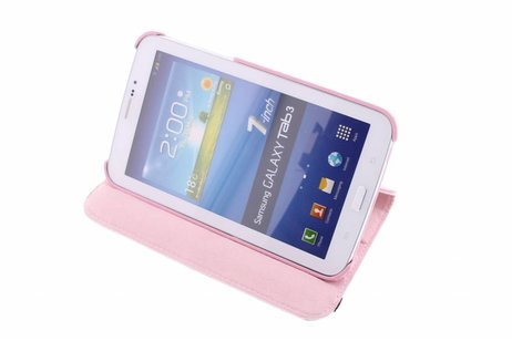 Samsung Galaxy Tab 3 7.0 hoesje - Roze 360° draaibare tablethoes