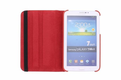 Samsung Galaxy Tab 3 7.0 hoesje - Rode 360° draaibare tablethoes