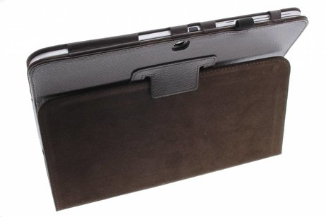 Samsung Galaxy Tab 3 10.1 hoesje - Bruin effen tablethoes voor