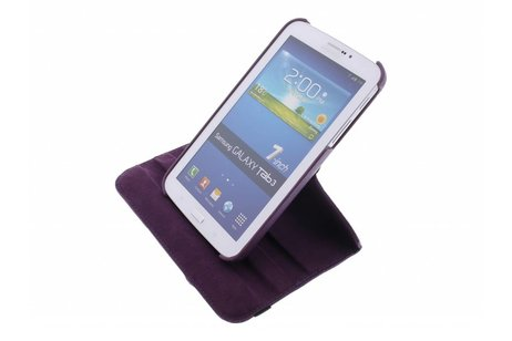 Samsung Galaxy Tab 3 7.0 hoesje - Paarse 360° draaibare tablethoes