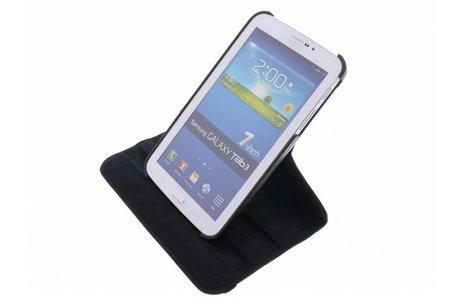 Samsung Galaxy Tab 3 7.0 hoesje - Zwarte 360° draaibare tablethoes