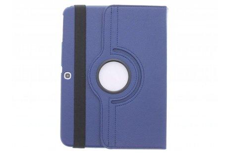 Samsung Galaxy Tab 3 10.1 hoesje - Blauw 360° draaibare tablethoes