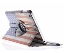 360° draaibare hoes USA vlag iPad Mini / 2 / 3