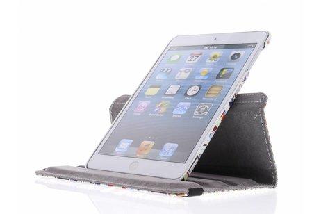 360° draaibare tablethoes met aztec design voor de iPad Mini / 2 / 3