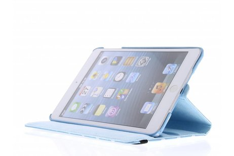 Lichtblauwe 360° draaibare polka dot tablethoes voor de iPad Mini / 2 / 3