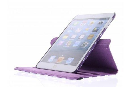 Paarse 360° draaibare tablethoes met polka dot design voor de iPad Mini / 2 / 3