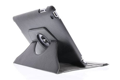 Zwarte tablethoes met een 360° draaibare houder voor de iPad 2 / 3 / 4