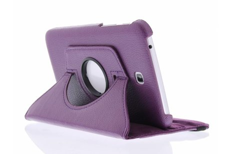 Samsung Galaxy Tab 3 7.0 hoesje - Paarse 360° draaibare tablethoes