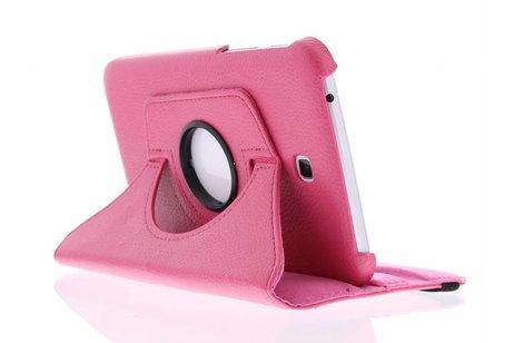 Samsung Galaxy Tab 3 7.0 hoesje - Fuchsia 360° draaibare tablethoes