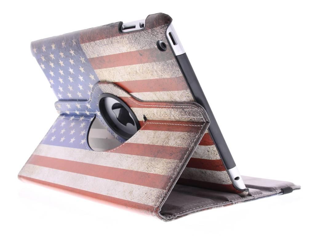 360 ° Drapeau Américain Rotatif Conçoit Manchon De Comprimé Pour L'air Ipad 2 VXfyUH9OXM