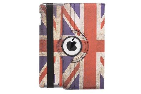 360° draaibare tablethoes Britse vlag iPad 2 / 3 / 4