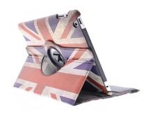 360° draaibare hoes Britse vlag iPad 2 / 3 / 4
