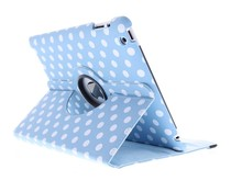 360° draaibare polka dot tablethoes iPad 2 / 3 / 4