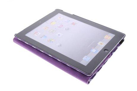 Paarse 360° draaibare tablethoes met polka dot design voor de iPad 2 / 3 / 4