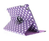 360° draaibare polka dot hoes iPad 2 / 3 / 4
