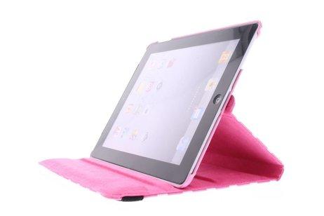 Roze 360° draaibare tablethoes met polka dot design voor de iPad 2 / 3 / 4