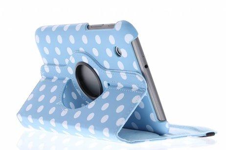 Samsung Galaxy Tab 2 7.0 hoesje - Lichtblauwe 360° draaibare polka