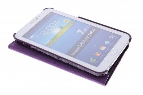 Samsung Galaxy Tab 3 7.0 hoesje - 360° draaibare krokodil tablethoes