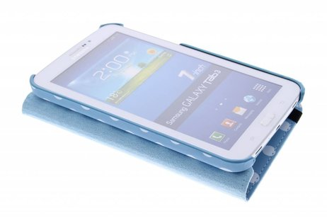 Samsung Galaxy Tab 3 7.0 hoesje - Lichtblauwe 360° draaibare polka