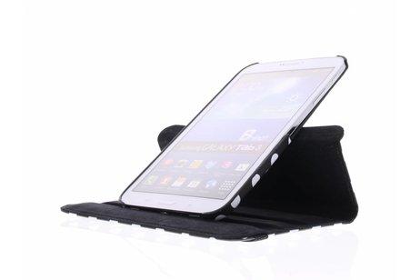 Samsung Galaxy Tab 3 8.0 hoesje - Zwarte 360° draaibare hoes