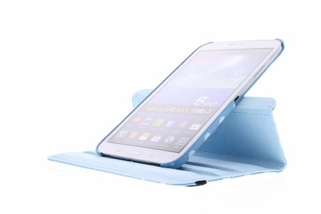Samsung Galaxy Tab 3 8.0 hoesje - Lichtblauwe 360° draaibare polka