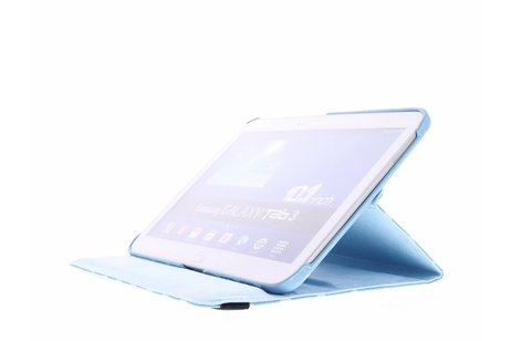 Samsung Galaxy Tab 3 10.1 hoesje - Lichtblauwe 360° draaibare tablethoes